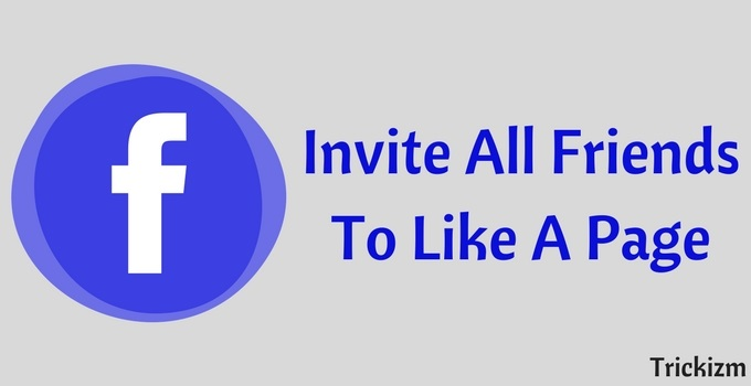 Invite All Friends To Like A Page
